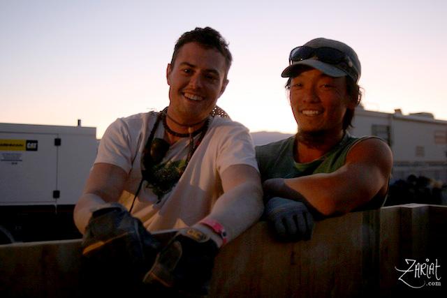 Matthew A and Michael K - Breakdown Week at Entheon Village - Burning Man 2008