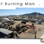 Panoramic Overview of Entheon Village at Burning Man 2008